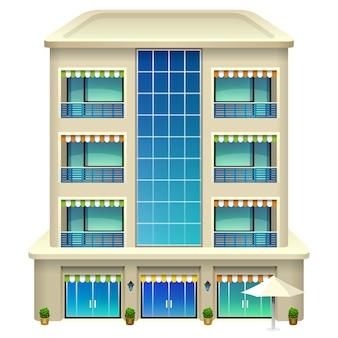 ホテルの建物。