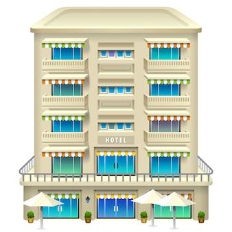 ホテルアイコン。イラスト。