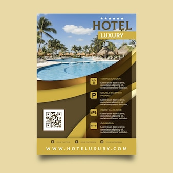 Hotel information flyer template