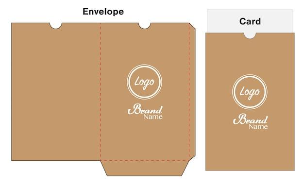 Hotel key card holder folder package template