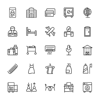 Hotel line icons 0