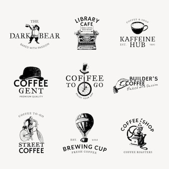 Hotel logo  black business corporate identity set