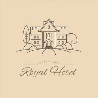 Hotel logo  template.