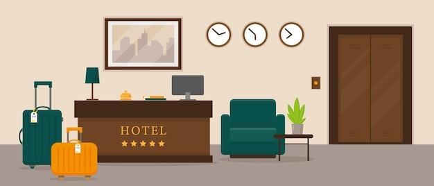 ホテルの受付インテリア