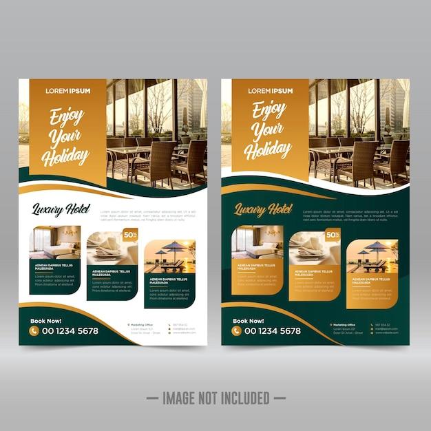 Hotel and resort flyer design template