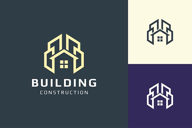 Hotel or resort logo in simple for real estate and mortgage business