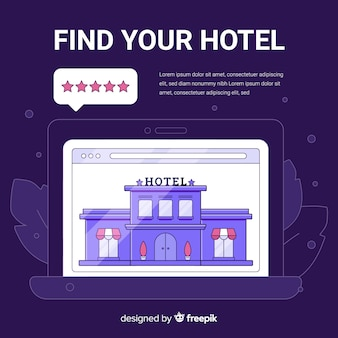 Hotel review concept background
