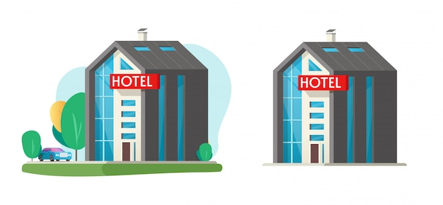 Hotel vector building isolated