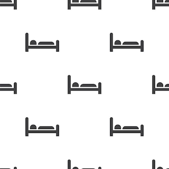 Hotel, vector seamless pattern, editable can be used for web page backgrounds, pattern fills