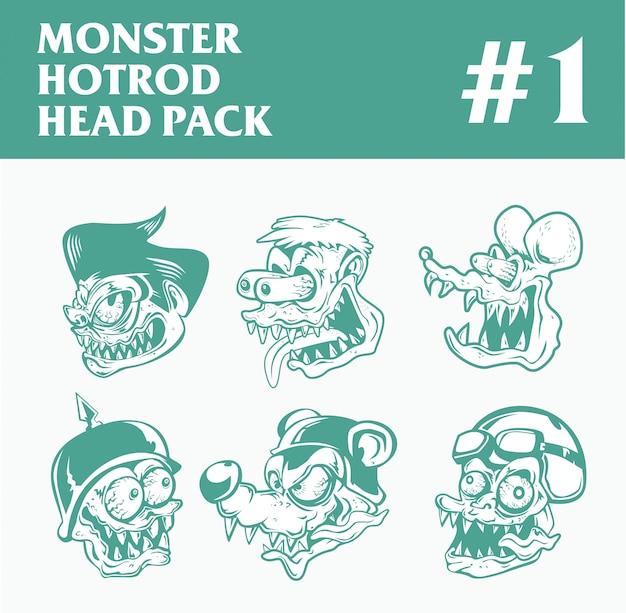 Hotrod monster head pack