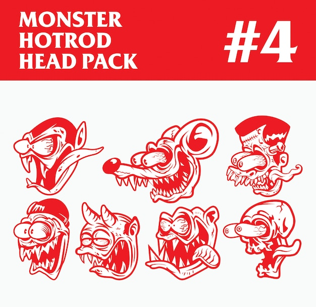 Hotrod monster head pack