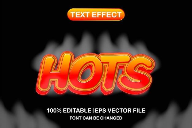 Hots 3d 편집 가능한 텍스트 효과