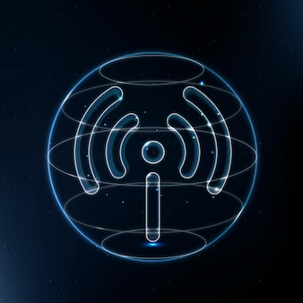 Hotspot network technology icon in blue on gradient background