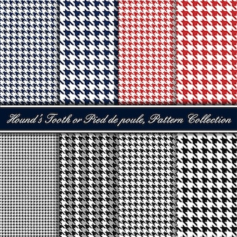 Hounds tooth seamless pattern collection