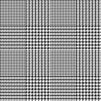 Hounds-tooth seamless pattern. geometric print in black and white color. glen plaid.