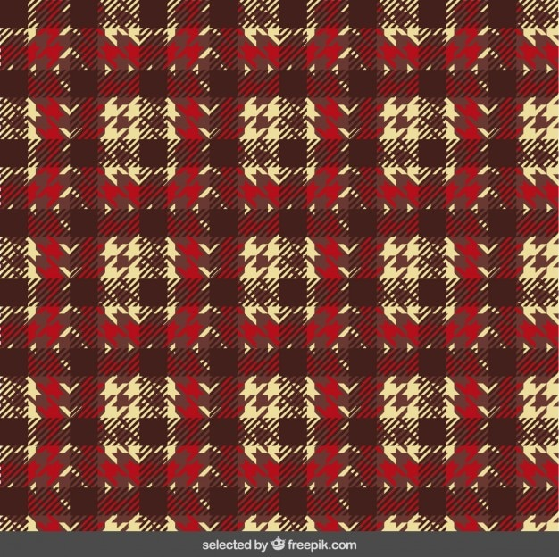 직물 용 houndstooth 패턴