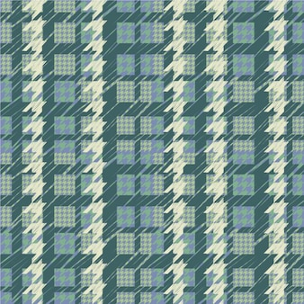 Houndstooth pattern in green tones
