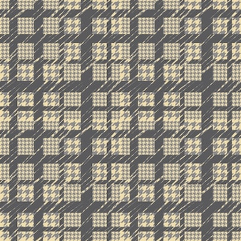 Houndstooth yellow and grey pattern