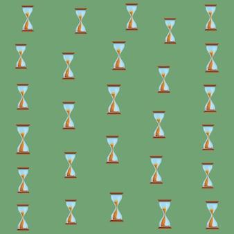 Hourglass background cartoons