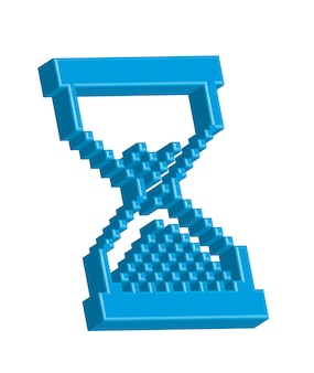 Hourglass blue computer pointer