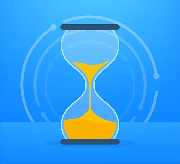 Коллекция песочных часов. песочные часы таймер песок как обратный отсчет. векторная иллюстрация штока