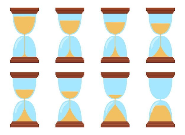 Hourglass design illustration isolated on white background