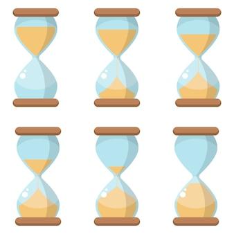 Песочные часы значок дизайн иллюстрация на белом фоне