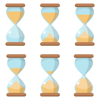 Hourglass icon design illustration isolated on white background