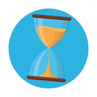Hourglass icon, hourglass vector that is about to run out of time