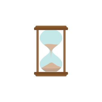 Значок песочных часов. офис работает абстрактный знак песочных часов