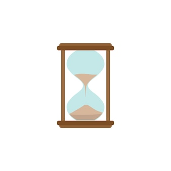 Hourglass icon. office working abstract sign of sandclock