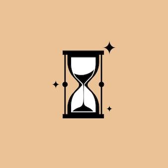 トレンドフラットスタイルの砂時計