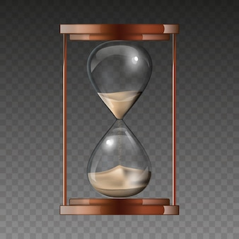 Песочные часы, изолированные на прозрачном фоне