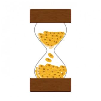 Hourglass or sandglass icon image