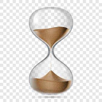 Hourglass sandglass realistic isolated 3d