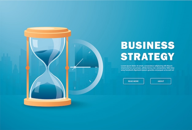 Hourglass time passing concept , running out of time Premium Vector