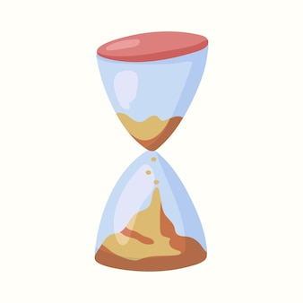 Hourglass. vector illustration in flat style