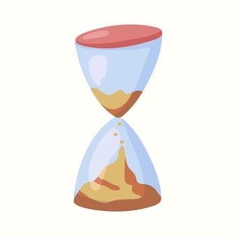 Песочные часы. векторная иллюстрация в плоском стиле