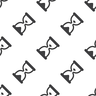 Hourglass, vector seamless pattern, editable can be used for web page backgrounds, pattern fills