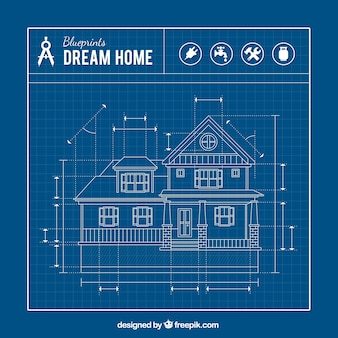 Blueprint vectors photos and psd files free download house blueprint malvernweather Image collections
