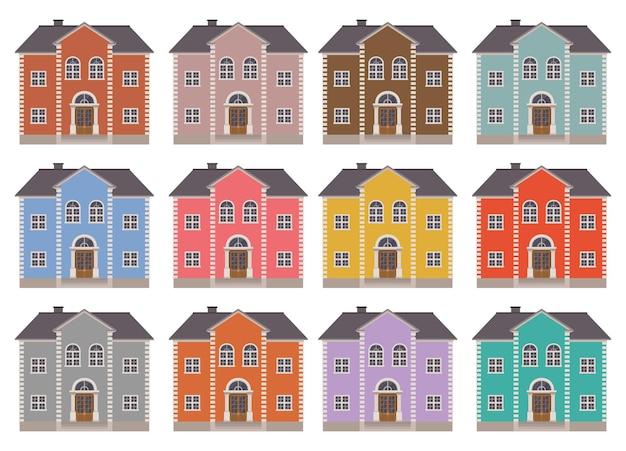 Иллюстрация строительства дома, изолированные на белом фоне