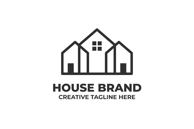 住宅建築モノラインロゴ