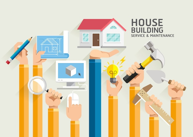 Обслуживание и ремонт домостроения.