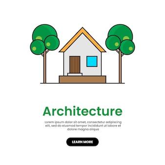 住宅建設ベクトルアイコンイラスト