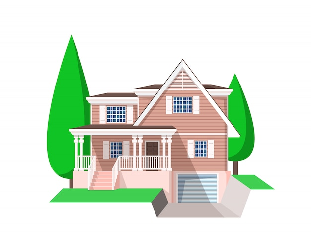 House building vector icon.