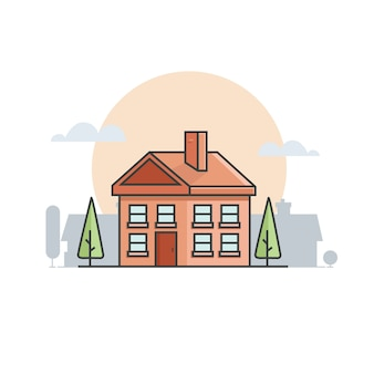家の建物ベクトル8