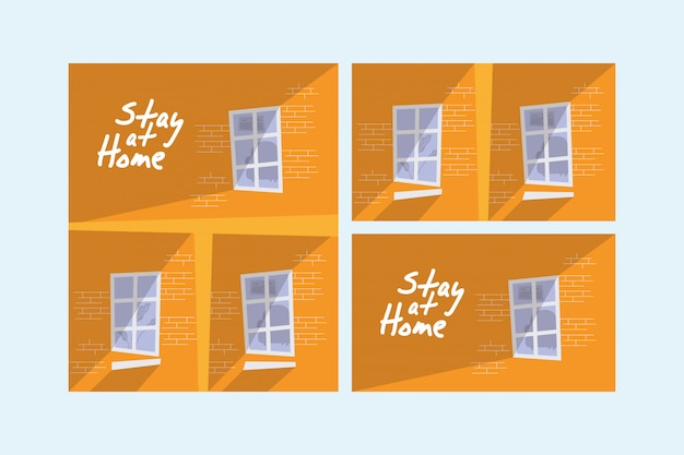 House buildings stay at home campaign