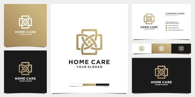 Уход за домом дизайн логотипа роскошь современный простой с и визитной карточкой
