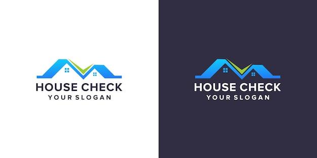 House check logo design template