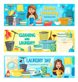 House cleaning, laundry and home washing service
